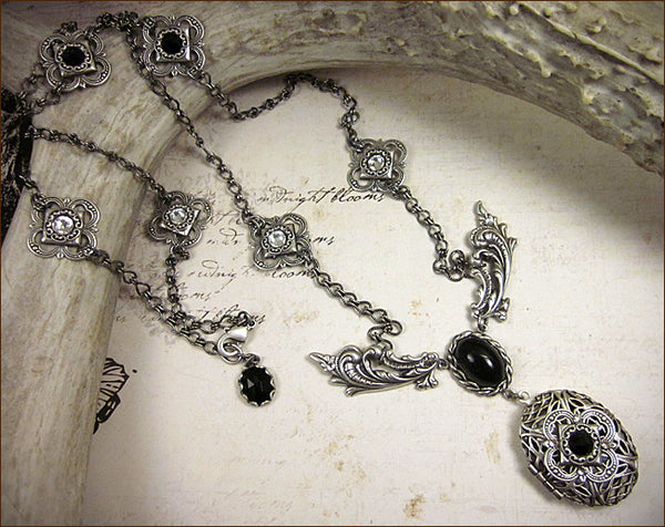 Custom Filigree Quatrefoil Locket -- by dosha of Rabbitwood & Reason.