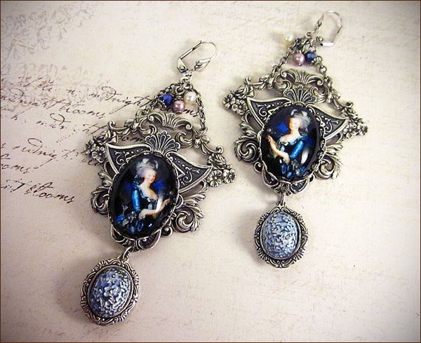 Customized Marie Antoinette Chandelier Earrings -- designed by dosha of Rabbitwood & Reason.