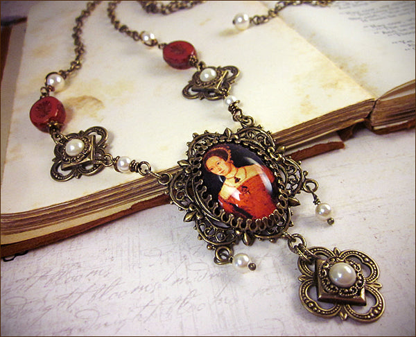 Custom Mary Tudor Necklace -- designed by dosha of Rabbitwood & Reason.
