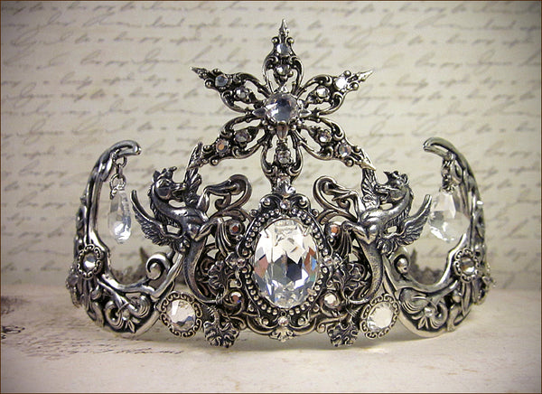 Custom Fantasy Night Sky Bridal Tiara - designed by dosha of Rabbitwood & Reason.