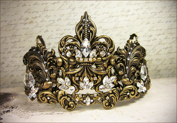 Custom Fleur Scroll Tiara -- by dosha of Rabbitwood & Reason.