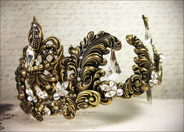 Custom Fleur Scroll Tiara -- view 2 -- by dosha of Rabbitwood & Reason.