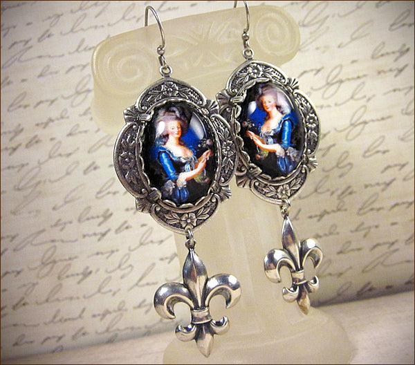Customized Marie Antoinette Fleur Earrings -- design by dosha of Rabbitwood & Reason.