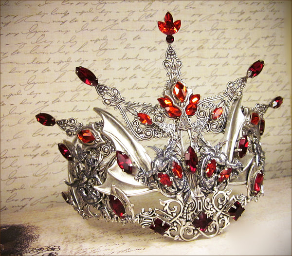 Customized Red Dragon Tiara - designed by dosha of Rabbitwood & Reason.