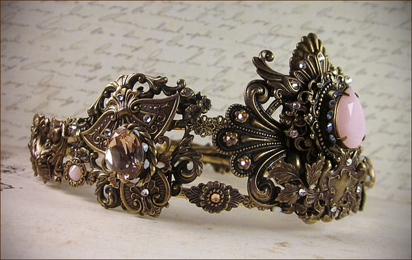 Custom French Rococo Tiara for photoshoot with Marie Antoinette / macaron theme -- designed by dosha of Rabbitwood & Reason.
