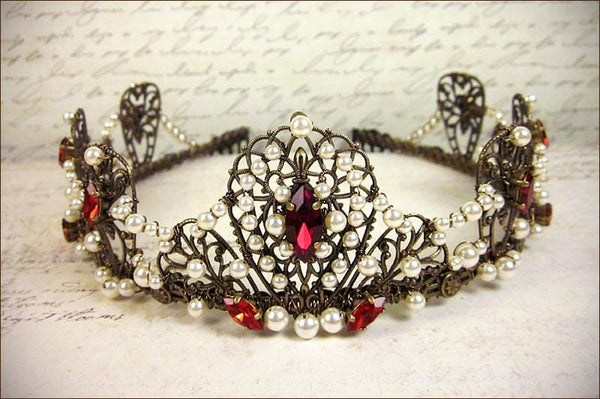 Aurora Tiara - Antiqued Brass