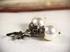 Aquitaine Pearl Drop Earrings in Cream Pearl - Antiqued Brass - by dosha of Rabbitwood & Reason