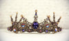 Avalon Tiara - Pearl Color: Gold - Centerpiece Stone: Tanzanite - Accent Crystals: Topaz Shimmer - Antiqued Brass - by dosha of Rabbitwood & Reason