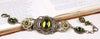 Canterbury Bracelet - Olivine - Antiqued Brass - Rabbitwood & Reason