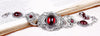 Canterbury Bracelet - Garnet - Antiqued Silver - Rabbitwood & Reason