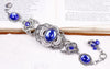 Canterbury Bracelet - Sapphire - Antiqued Silver - Rabbitwood & Reason