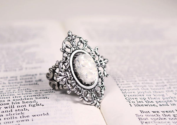 Chateau Ring - Antiqued Silver - Rabbitwood & Reason