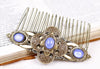 Avebury Comb - Antoinette Blue - Antiqued Brass - Rabbitwood & Reason