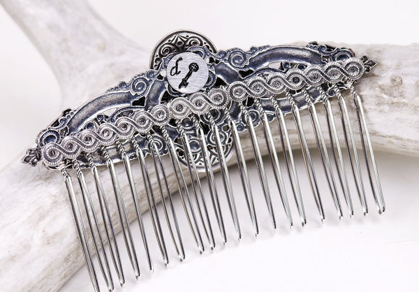 Each comb features a signature tag with Medieval key - by dosha of Rabbitwood & Reason