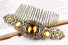 Canterbury Comb - Topaz - Antiqued Brass - Rabbitwood & Reason