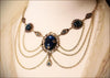 Drucilla Necklace - Twilight Blue - Antiqued Brass - Rabbitwood & Reason