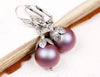 Aquitaine Pearl Drop Earrings in Iridescent Red Pearl - Antiqued Silver - by dosha of Rabbitwood & Reason