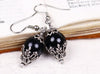Borgia Drop Earrings in Mystic Black - Antiqued Silver - by dosha of Rabbitwood & Reason