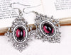 Chateau Earrings - Amethyst - Antiqued Silver - by dosha of Rabbitwood & Reason