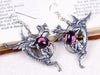 Dragon Earrings - Amethyst - Antiqued Silver - Rabbitwood & Reason