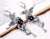 Gryphon Earrings - Black - Antiqued Silver - Rabbitwood & Reason