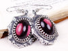 Medieval Earrings Antiqued Silver - Amethyst - Rabbitwood & Reason