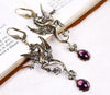 Poseidon's Steed Earrings - Amethyst - Antiqued Brass - Rabbitwood & Reason