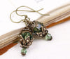 Rhiannon Earrings Antiqued Brass - Erinite - Rabbitwood & Reason