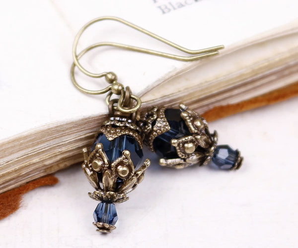 Rhiannon Earrings Antiqued Brass - Montana - Rabbitwood & Reason