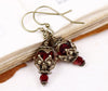 Rhiannon Earrings Antiqued Brass - Siam - Rabbitwood & Reason