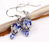 Rhiannon Earrings Antiqued Silver - Light Sapphire - Rabbitwood & Reason
