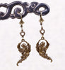 Valkyrie Earrings with White Opal Swarovski© Crystals - Antiqued Brass by dosha of Rabbitwood & Reason