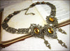 Chateau Necklace - Topaz - Antiqued Brass - Rabbitwood & Reason