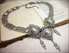 Chateau Necklace - White Pearl - Antiqued Silver - Rabbitwood & Reason