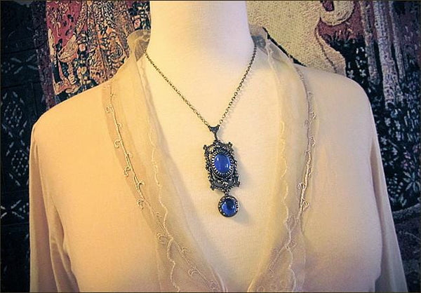 Gothic Cathedral Pendant Necklace - Antiqued Brass - Rabbitwood & Reason