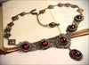 Lucia Necklace - Garnet - Antiqued Brass - Rabbitwood & Reason