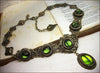 Lucia Necklace - Olivine - Antiqued Brass - Rabbitwood & Reason