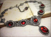 Lucia Necklace - Ruby - Antiqued Silver - Rabbitwood & Reason