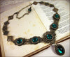 Lucia Necklace - Emerald - Antiqued Brass - Rabbitwood & Reason