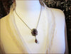 Medieval Pendant Necklace Antiqued Brass - Garnet - Rabbitwood & Reason