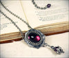 Medieval Pendant Necklace Antiqued Silver - Amethyst - Rabbitwood & Reason