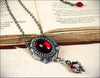 Medieval Pendant Necklace Antiqued Silver - Garnet - Rabbitwood & Reason