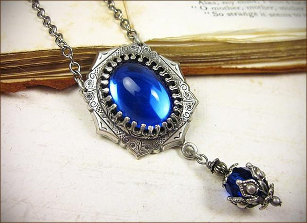 Medieval Pendant Necklace - Antiqued Silver