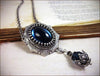 Medieval Pendant Necklace Antiqued Silver - Twilight Blue - Rabbitwood & Reason