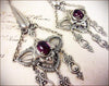 Millicent Chandelier Earrings - Amethyst - Antiqued Silver - Rabbitwood & Reason