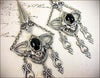 Millicent Chandelier Earrings - Black - Antiqued Silver - Rabbitwood & Reason