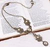 Avalon Ornate Necklace in Cream Pearl - Antiqued Brass - Rabbitwood & Reason