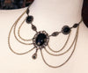 Drucilla Necklace - Black - Antiqued Brass - Rabbitwood & Reason