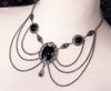 Drucilla Necklace - Black - Antiqued Silver - Rabbitwood & Reason