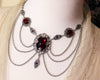 Drucilla Necklace - Garnet - Antiqued Silver - Rabbitwood & Reason